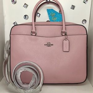 COACH 💎LEATHER LAPTOP BAG CARNATION PINK